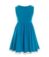 Alice vestido de festa de halloween traje festa de aniversário casamento casamento azul criança vestido meninas roupas y0726