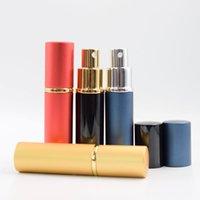 Parfüm Şişesi Düz Kafa Silindir Parfümleri Boş Sprey Tüp Parti Malzemeleri Alüminyum Seyahat Şişeleme 10 ml Deniz HHC7542