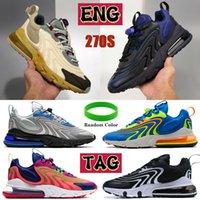 جديد 270 تتفاعل ENG الرجال الاحذية ترافيس سكوتس النيون رمادي فاتح أزرق أسود أبيض باوهاوس احذية المصمم الرجال والنساء أزياء