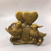 Buon matrimonio mandarino Anatra anticata anticata anticata antico rame artigianato in bronzo Varie all'ingrosso