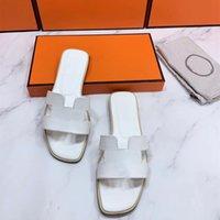 Designer Designer Lusso Oran Donne Sandalo Pantofole piatte Tacchi alti Summer Leather Big Head Slides Fashion Beach Shoes Sexy Shoes Top Quality with Box