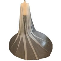 Bridal Veils 2021 Cathedral Long Veil Wedding With Comb Detachable Train Style Ivory High Quality Bolero