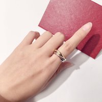 Koppar damer Silver Lady Rose Gold Love Trinity Cluster Ring Designer Hög Quatity Bröllop Smycken Födelsedag Present Kvinnor För Ringar Present