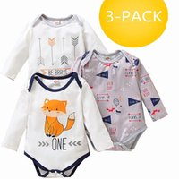 Rompers Fall Winter 3PCS Pack Born Baby Girls Boy 0 6 9 12 Month Lounge Set Kids Clothes Long Sleeve Bodysuit Cartoons