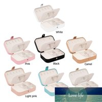 Square Shaped Jewelry Box Earrings Necklace Bracelet Organizer with Mirror Travel Portable PU Leather Ring Storage Case Holder