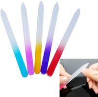 100x 9 * 0.35 cm File per unghie in vetro Durevole file di cristallo buffer nail art buffer file per manicure uv strumento lucido nail art hwb6090