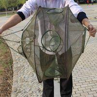 Fishing Accessories 1pcs Portable Folded Net Fish Shrimp Minnow Crayfish Crab Baits Cast Mesh Traps Trap