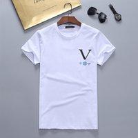 Mens Fashion t shirt Designers Men S Clothing black white tees Short Sleeve womens casual Hip Hop Streetwear tshirts w77