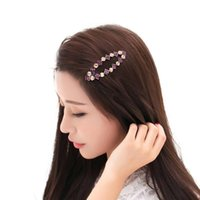 Hair Clips & Barrettes Luxury Rhinestone Pins Geometric Bb For Women Bang Grips Colors Crystal Pin Accessories Girls