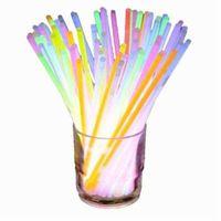 Toy 20cm Multi Color Glow Stick Bracelet Necklaces Neon Party Flashing Light Wand Novelty Vocal Concert LED Flash Sticks