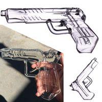 Fumar cachimbos pistola borbulhante mão segurada de vidro de vidro de vidro tubos de água bongs bongs acessórios erva tubulações Dab plataformas