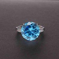 Brand Rings Vintage 100% 925 Sterling Silver Citrine Gemstone Birthstone Wedding Engagement Diamonds Ring Fine Jewelry 3ic7