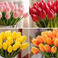 1 stücke pu künstliche blumen seide tulpen echte tuch mini tulip hochzeit dekorative blumenstrauß dekorationen home deco