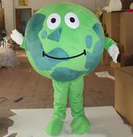 Performance Green World World Mascotte Mascotte Costumes Halloween Fantaisie Fantaisie Robe de dessin animé Carnaval Noël Pâques Pâques Annonce fête d'anniversaire Outfit