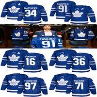 Toronto Maple Leafs Jersey 91 John Tavares 34 Auston Matthew 36 Jack Campbell 71 Foligno 16 Mitchell Marner 97 Joe Thornton Hockey Jerseys