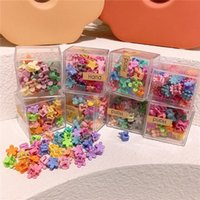 Korea Style Simple Cute Girl Hairpin Candy Colors Flowers St...