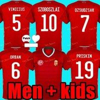 2021 헝가리 축구 유니폼 Szalai Uniform Mens Priskin Dzsudzsak Szoboszlai Gazdag Ferenczi Beska 홈 남성 + 아이들 축구 셔츠