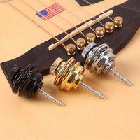 1 ADET Gitar Kayışı Kilit Straplock Düğmesi Gitar Toka Akustik Elektrik Bas Askısı Için Skidproof