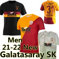 2021 2022 Falcao Galatasaray SK Fussball Jerseys Startseite 21/22 Türkei Sümer Lig Dekre Yedlin Fernandes Mostafa Mohamed Marcelo Saracchi Football Hemd Michael Seri