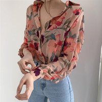 Plus Size Fashion Casual Oversized Women Blouse 2021 Summer Office Chiffon Long Sleeve Loose Tops Shirts Blusas Mujer Women's Blouses &