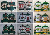 2021 Minnesota Wildhockey Trikots Männer Zach Parise Jersey Kirill Kaprizov Kevin Fiala Matten Zuccarello Marcus Foligno genäht