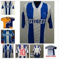 Oporto Retro Soccer Jersey 1994 95 97 99 2001 03 04 Copa Final Home Alejar Hombres Deco Finales Camisa de Fútbol Vintage Kits Azul Amarillo Uniforme Clásico McCarthy Derlei