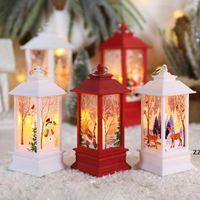 Decorações de Natal para Lanterna Home LED Candle Chá luz velas Árvore de Xmas Ornaments Santa Claus Elk Lamp Kerst Gift HWF10218