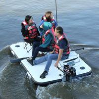 釣りマジックカーペットブイの強化インフレータブルフローティングプラットフォームLuyaボートラバーラフト/インフレータブルボート