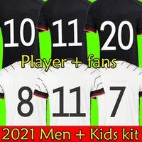 2021 플레이어 버전 독일 축구 유니폼 Allemagne Hummels Kroos Fans Football Shirt 20 21 Draxler Reus Jerseys Muller Gotze Camisas Alemania Men + Kids Kit