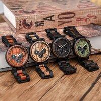 Armbanduhren Erkek Safatler Dodo Hirsch Holzuhr für Männer Wasserdichte Edelstahl Chronograph Luxus Herrengeschenktropfen