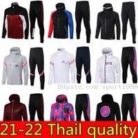 2021 2022 Paris Hoodie Jacket Survetement 20 21 22 22 Verratti Cavani Mbappe Jaquetas de Futebol Air Jordam Futebol Tracksuits