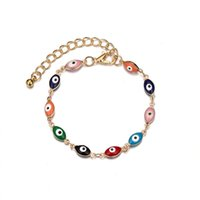 Hot alloy color Evil Eye Lucky eye chain bracelet women's jewelry bracelet