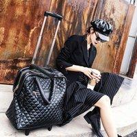 가방 슈퍼 트롤리 가방 바퀴에 PU 캐리 라이트 여행 수하물 가방 비즈니스 여성 남성 18 인치 밸류