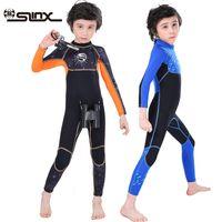 Slinx الأولاد طويلة الأكمام 2.5 ملليمتر النيوبرين الغوص دعوى بذلة الجسم الكامل ملابس السباحة الشتاء المياه الدافئة الرياضية أطفال تصفح السباحة A0512