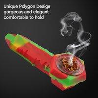 Waxmaid 4.3 인치 Freezable 실리콘 얼음 숟가락 흡연 타바코 파이프 6 개의 혼합 색상 CA 로컬 창고에서 소매 우주선