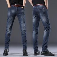 Jeans coreano moda primavera e autunno slim fit maschili elastici da uomo lungo pantaloni da gamba lunghi