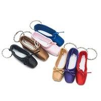 Mini Dancer Satin Ballet Keyring Purple Professional Ballet Toe Keyring Gift Ballet Shoe Keychain Dance Little Tool For Girls G1019