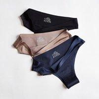 Women's Panties 3 Pcs Women Underwear Sexy Sports Seamless Female Lingerie T-back G-string Thong Woman Ice Silk BANNIROU