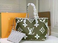 MM Tote Bag Borsa da donna Borsa a tracolla frizione Grande capacità pacchetto tela in pelle classica lettera stampata Patchwork Colore Neverfull Handbags