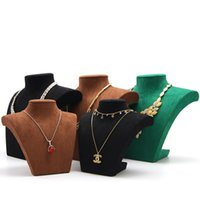 3 Color Necklace Stand Mannequin Jewelry Display Pendants Holder Model Shelf Neck Bust Frame Showcase Necklace Display