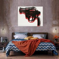 Pistol Oil Painting On Canvas Home Decor Handcrafts  HD Prin...