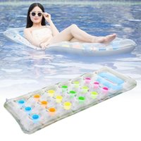 Pool & Accessories PVC Inflatable Mat Adult Floating Water Bed 18 Holes Air Couch Cushion For Float Raft Swimming Beach Toy #280730