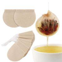 100 шт. / Лот круглый одноразовый кофе чайный фильтр мешок с струнными бумаги пакетики для чая оптом