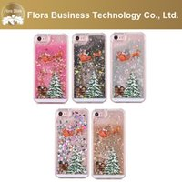 Christmas Tree Flow Phone Cover Bling Liquid Christmax Cases for iPhone 7 7p 6s 6plus 8 X 11 12 pro Max