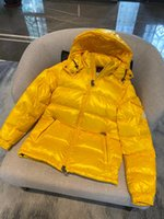 Designer Branded Mens Maya Down Giacca Parka Monler Winter Warm Italy Italian Boy Boy Letter Nero Giallo Argento Cute Zipper Outwear Luxury Parka Giacche Cappotti