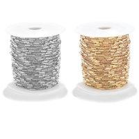 1m / löhne Breite 1,5 mm Edelstahl Gold Satellitenkabel Link mit Pfeifenkette Halskette für DIY Schmuck Finding Großhandel Ketten