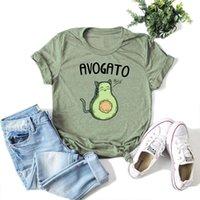 Kawaii avocado drucken frauen t shirt harajuku lustige kurze hülse tops streetwear cartoon basise tee große größe tshirt frau kleidung