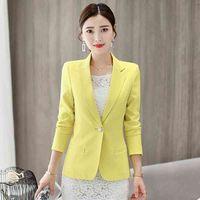 Frauen Slim Blazer Formale Dame Büro Arbeitsanzug Jacken Mantel Femme Elegante 210419