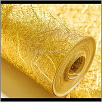 Wallpapers Décor Home & Gardenhigh Grade Gold Foil, Sier Foil Wallpaper,Luxury Europe Embossed Wire Roof Lamp Ceiling Ktv House Golden Wall P