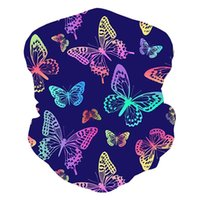 Outdoor Headband Scarf Neck Windproof Sun Protection Half Face Bandana 3D Butterfly Print Scarves Dust-proof Mask Unisex Cycling Caps & Mask